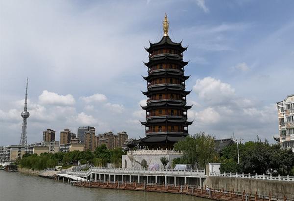 凤城河宝塔景观