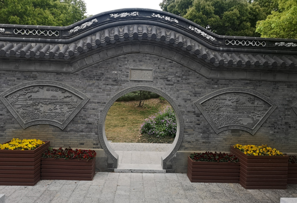 园景墙砖雕